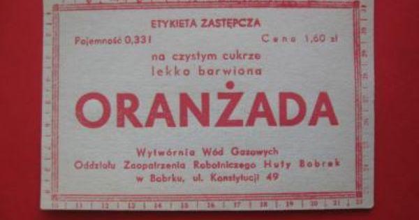 Oranzada Oryginalne Etykiety 10 Szt Lata 70 4989304089 Oficjalne Archiwum Allegro Book Cover Childhood Communism