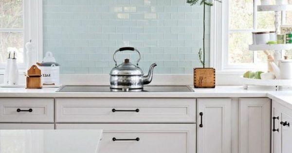 Küchenrückwand aus Glas - blass farbene Fliesen Küche Pinterest - paneele für küche
