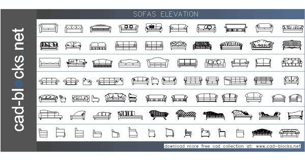Furniture Cad Blocks Sofas In Plan View Architecture