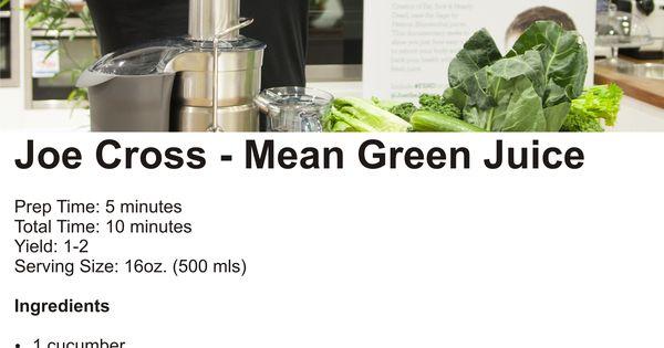 Joe Cross S Mean Green Juice Food Pinterest Mean