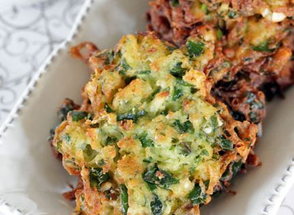 Spinach Feta Latkes