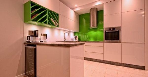 Meble Kuchenne Slupsk Bialo Zielona Kuchnia Pallad Kitchen Cabinets Home Kitchen