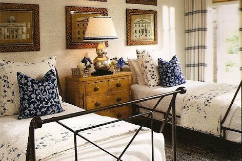Twin beds for a guest bedroom.