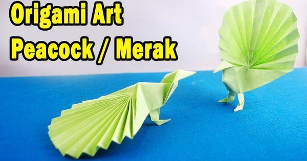 Cara Membuat Origami Burung Merak Peacock Origami Merak Burung