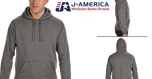 Black J America Tailgate Fleece Pullover Hood Sweatshirt 2XL