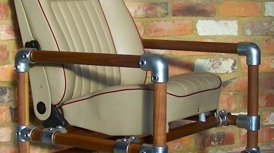 Man Cave Desk Chairs : Metal and wood kee klamp chair for man cave or modern