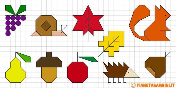 Cornicette autunnali a quadretti da disegnare e colorare - Disegnare le proprie pagine da colorare ...