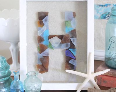 Sea Glass Monogram {DIY Decor}–The Country Chic Cottage - EverythingEtsy.com