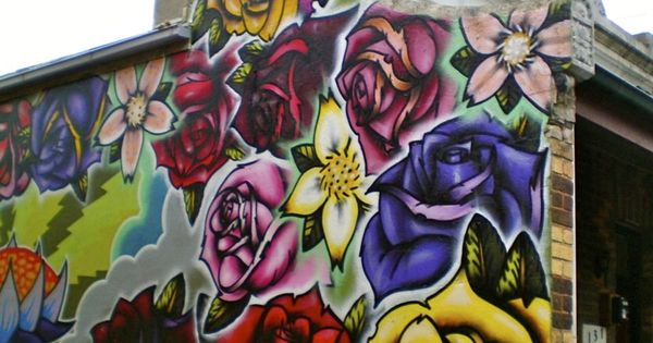 Street art flower power