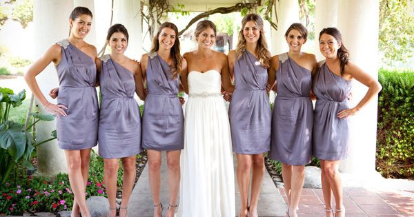 Bridesmaid's dresses from Banana Republic. Wedding gown from J. Crew. Photography by