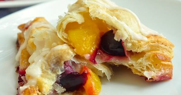 Easy Cherry Peach Turnovers | Recipe | Peach Turnovers, Peaches and ...