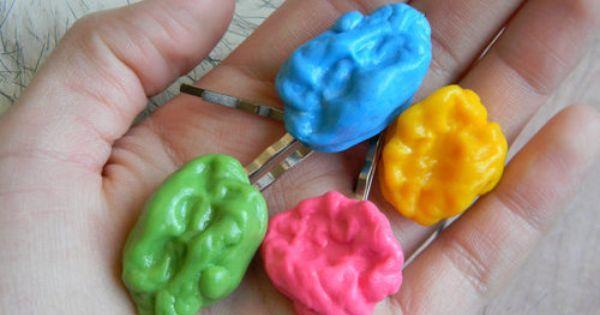 fake gum hairpins gum bubbles bubble gum