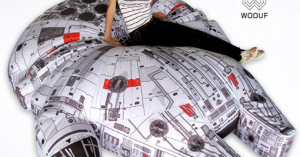 Star Wars Millennium Falcon Bean Bag Chair. Amazing.