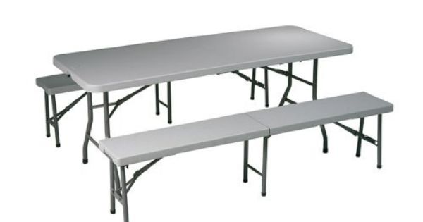 Office Star 3 Piece Folding Table Bench Set Table 72 Long X 30 Wide X 29 1 2 High Benches 72 1 2 Table And Bench Set Folding Table Folding Picnic Table