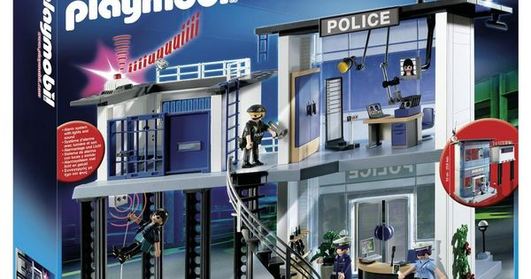 playmobil commissariat de police prix promo carrefour 69. Black Bedroom Furniture Sets. Home Design Ideas
