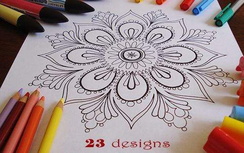 Free printable Mandala pages for coloring. perfect for a rainy day. Adult