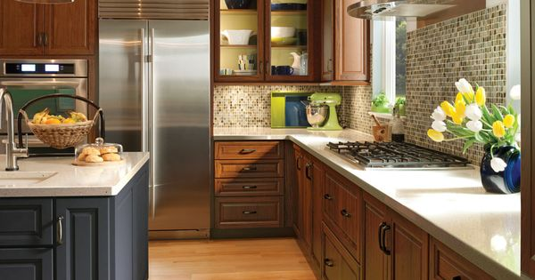 Mix And Match Cabinetry Colors These In Cornell Maple