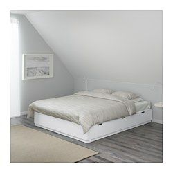 Nordli Bed Frame With Storage White Queen Bettgestell Bett