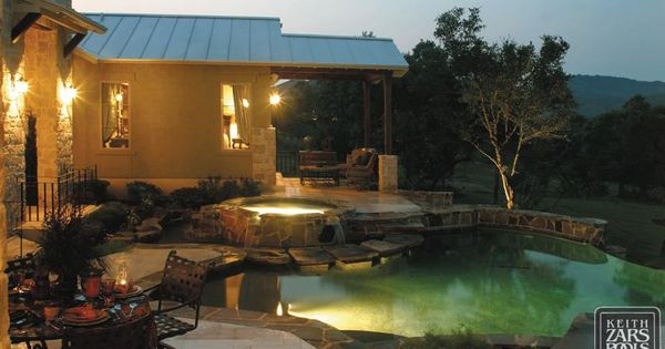 Love seeing a pool lit up at night so gorgeous keith - Swimming pools in san antonio texas ...