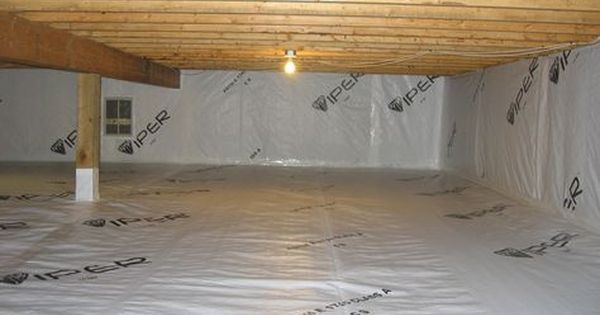 12 Mil Reinforced White Black Crawl Space Encapsulation Americover Product Crawl Space Encapsulation Diy Crawlspace Plastic Sheets