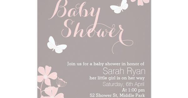 babies, girls and showers on pinterest, Baby shower invitations