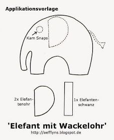 To Go Freebies Applikation Vorlagen Applikationsvorlage Elefant Basteln