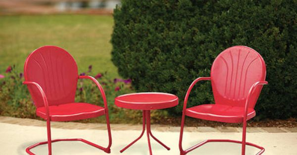 Backyard Creations 3 Piece Woodstock Red Bistro Collection At