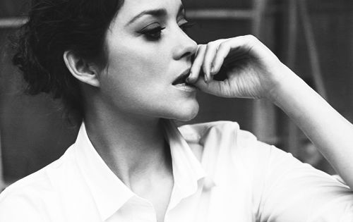 Marion Cotillard white shirt