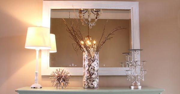 Diy Foyer Chandelier : Oyster shell mirror chandelier diy coastal foyer