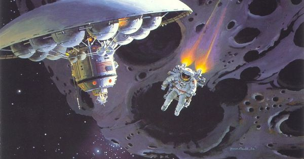 Robert McCall, Asteroids Exploration *** For The Sci Fi ...