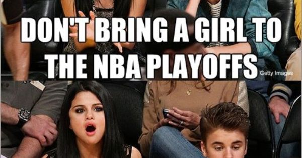 """Don't bring a girl to the NBA playoffs. She'll get bored."" Case"