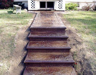 Front Step Design Pictures Concrete Steps And Concrete