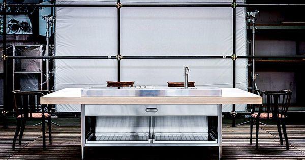 Une cuisine bleu gris ikea marie claire maison petit for Petit evier rond