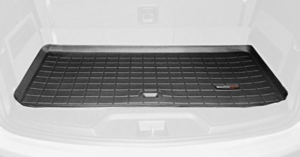 Weathertech Custom Fit Cargo Liners For Gmc Acadia Black Behind