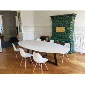 salle salle à Carat de manger Table blancheTable ovale à pqMUVzSG