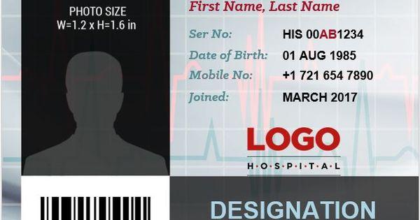 6 Best Medical Staff Id Card Templates Ms Word Microsoft Regarding Doctor Id Card Template In 2020 Id Card Template Card Templates Business Card Logo Design