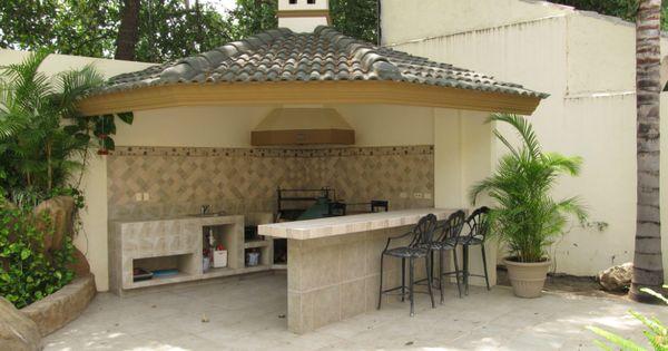 Palapa con asador equipado en patio alberca beto - Ideas para patios ...