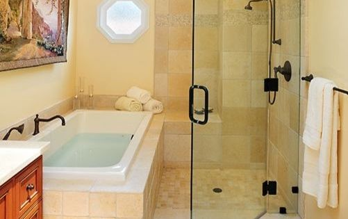 This Could Work With Shower In Current Location And Tub