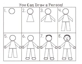 Step By Step How To Draw A Person Kindergarten Drawing Drawing For Kids Teaching Drawing