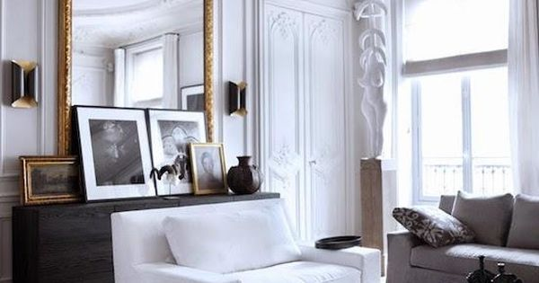 appartement parisien en blanc chic et minimaliste etc interieur pinterest appartements. Black Bedroom Furniture Sets. Home Design Ideas