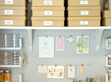 Work space, I definitely need shelves in my craft room.