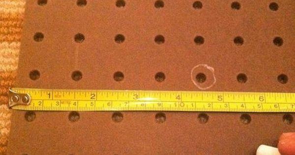 Using Peg Board for Tufted headboards - genuis! No drilling! diy headboard