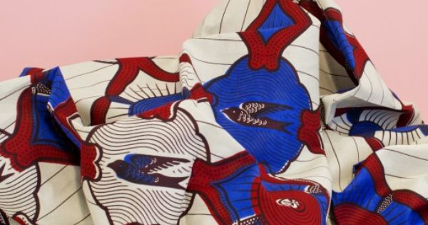 tissu wax julius hirondelle bleu milh la mercerie en. Black Bedroom Furniture Sets. Home Design Ideas