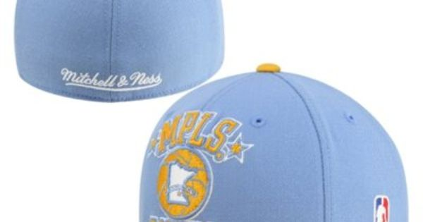 Mpls Lakers Fitted Hats Blue Yellow Light Blue