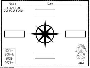 Labeling A Compass Rose Freebie Compass Rose Map Skills Worksheets Compass Rose Activities Compass rose worksheet kindergarten