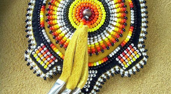 Lakota Native American Beaded Turtle Magnet Beadwork Bead