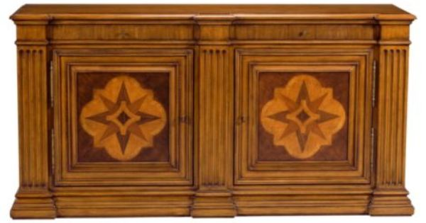 Tuscany marquetry sideboard ethan allen furniture interior design new - Ethan allen buffet table ...