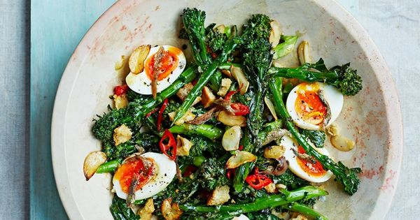 ... & croutons | Recipe | Broccoli salads, Eggs and White wine vinegar