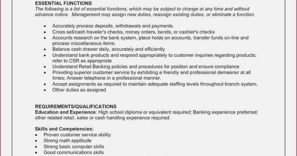 Resume For Marketing Resume For Sales Resume For Word Mac Pc Cover Letter Professional Resume Bank Teller Resume Resume No Experience Resume Examples