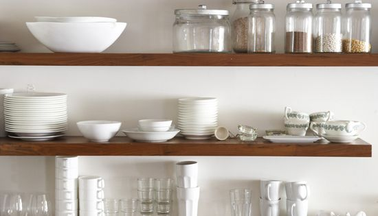 Kitchen Storage... Floating shelves? Might work...